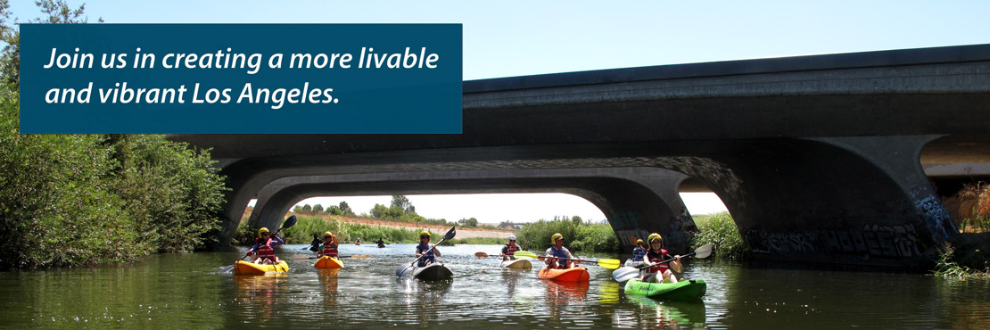Greg Laemmle kayaking the L.A. River